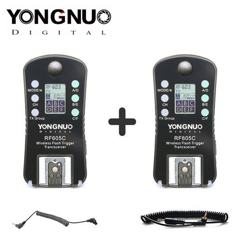 YONGNUO RF-605 RF605C RF 605C RF605 C Wireless Flash Trigger for Canon upgrade version of RF-603IIYONGNUO RF-605 RF605C RF 605C RF605 C Wireless Flash Trigger for Canon upgrade version of RF-603II
