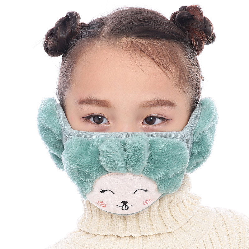 Hot Children Dustproof Anti Pollution MaskRespirator Washable Reusable Masks Cotton Unisex Kid Mouth Muffle Keep Warm Mask