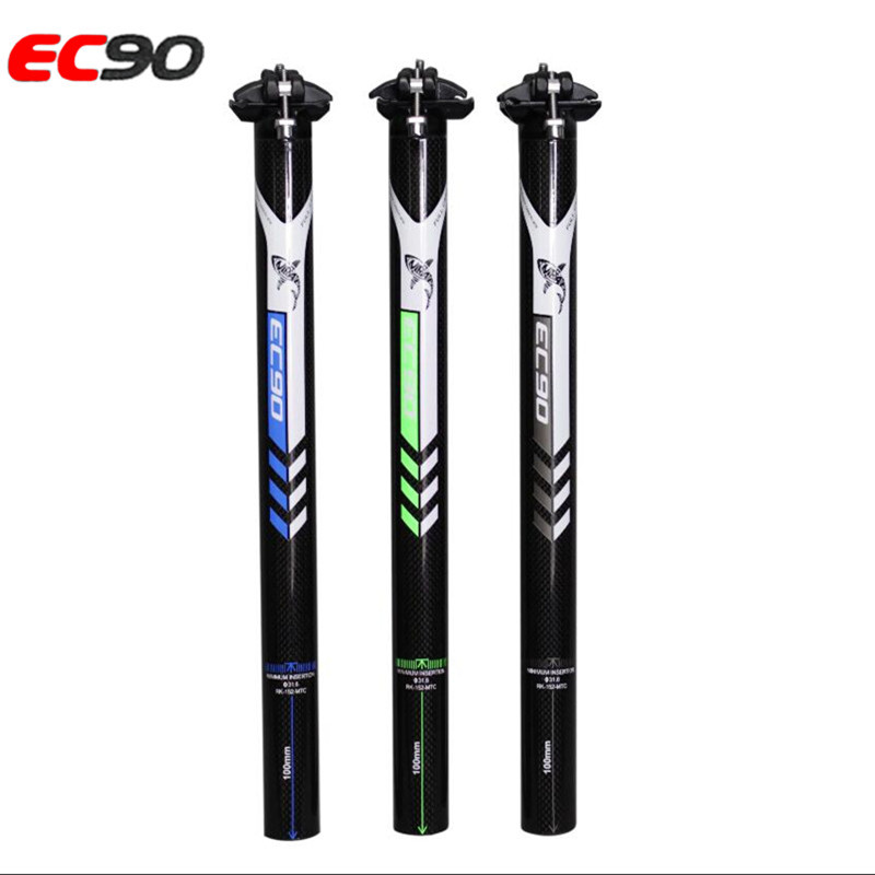 EC90 Mountain Bike Carbon Seatpost Road Bicycle Bike Seat tube Accessories 2017 3K Full Carbon Fibre Seatposts MTB Parts 3k finish carbon fibre seatpost mountain road bike bicycle seatpost seat post seat tube two bolts bike parts free shipping