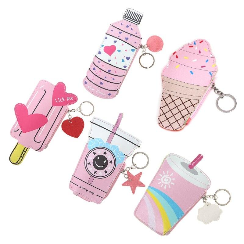 Women Girls Wallet Card Holder Case Mini Handbag Change Coin Purse Bags Key Ring casual weaving design card holder handbag hasp wallet for women