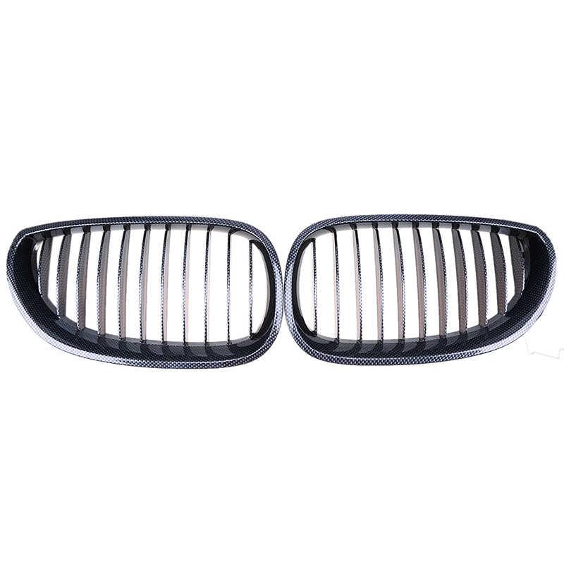 Possbay Imitasi Serat Karbon Mobil Depan Bumper Pusat Ginjal Kisi-kisi untuk BMW 5-Series E61 Touring 2003-2010 balap Mobil Pemanggang
