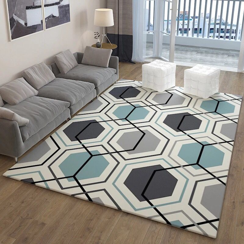 Us 1 71 43 Off Geometric Rugs And Carpets For Home Living Room Soft Modern Bedroom Floor Absorbent Kitchen Are Rug Meeting Mats In Carpet
