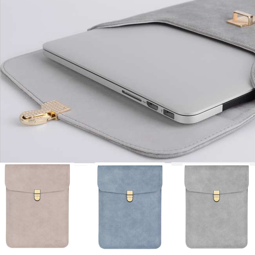 Notebook Bag 12 13.3 15.6 inch for macbook air 13 case Laptop Case Sleeve for macbook pro 13 Pu Leather Women 14 inch