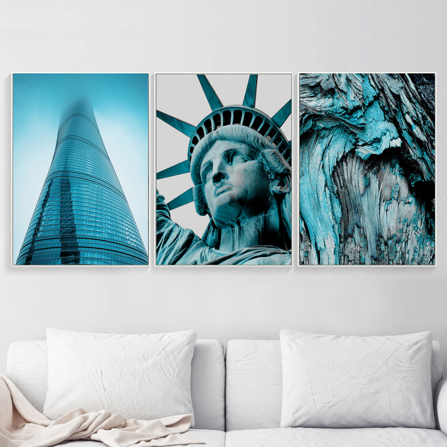 Succulents New York Statue Of Liberty Sea Wall Art Canvas Painting Nordic Posters And Prints Wall Pictures For Living Room Decor in Painting Calligraphy from Home Garden