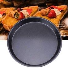 1Pcs Kitchen accessories Non-Stick Carbon Steel Thicken Round Pizza Pans Baking Dish Bakeware Tray Parquet baking pan mould