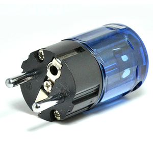 Image 3 - Pair High Quality Hifi audio Rhodium Plated Schuko EU Power plug  P 037e  IEC connector C 037 adapter for DIY power cables