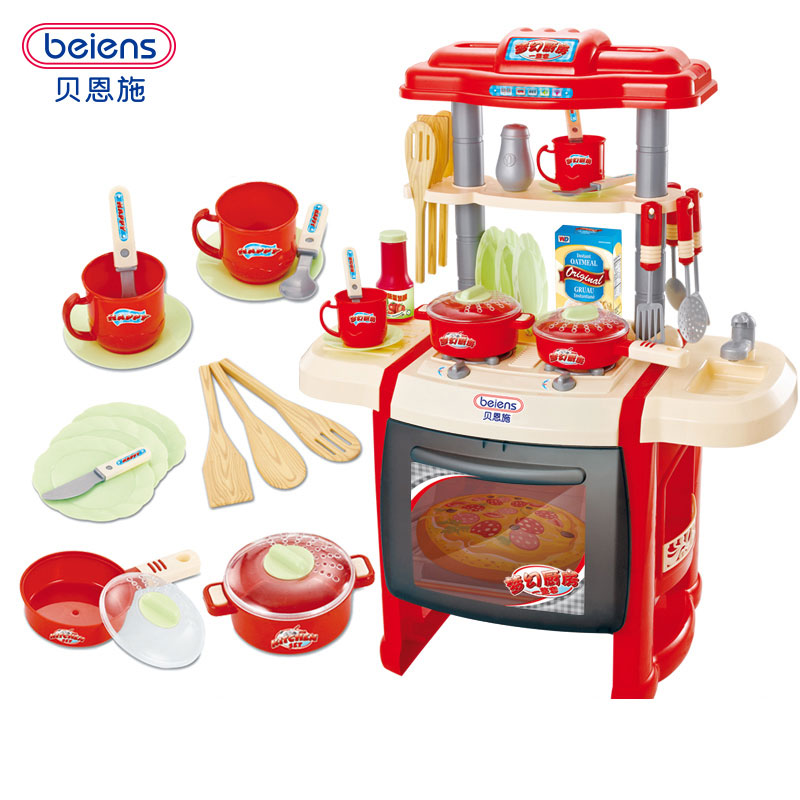 Beiens Brand Toys Kids Kitchen Set Children Kitchen Toys Large Size Kitchen Cooking Simulation Model Play Toy for Girl Baby children girl toys play house kitchen cooking simulation kitchen cooking playsets baby nursery baby playing housecozinha