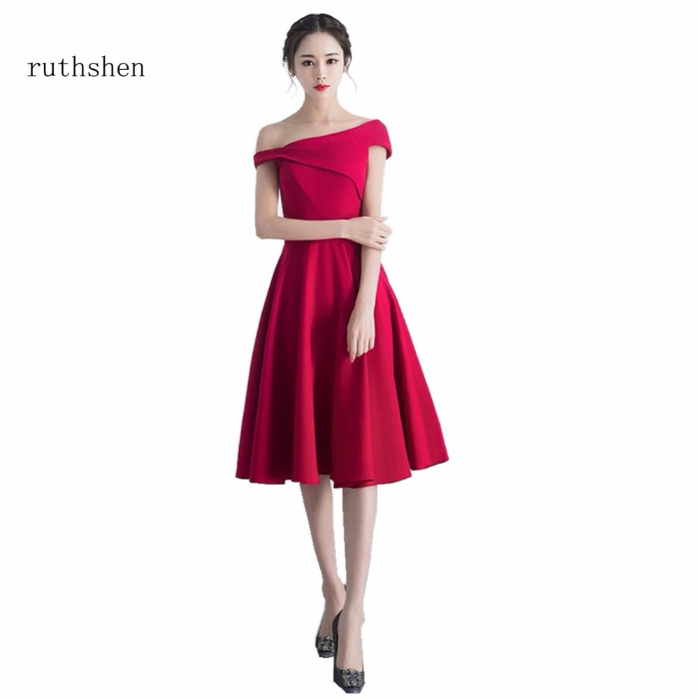 ruthshen Long Evening Gowns Boat Neck With Pleated Elegant Formal Chiffon Cheap Ladies   Prom     Dress   2018