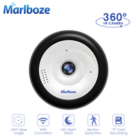 Marlboze WIFI IP Camera 960P HD 360 panoramic camera TF Card Record Built in night vision wireless security VR wifi camera