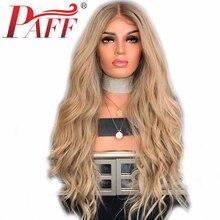 PAFF, блонд, шелковая основа, парики на кружеве, человеческие волосы, парики, натуральная волна, бразильские волосы remy, отбеленные узлы, парик с детскими волосами