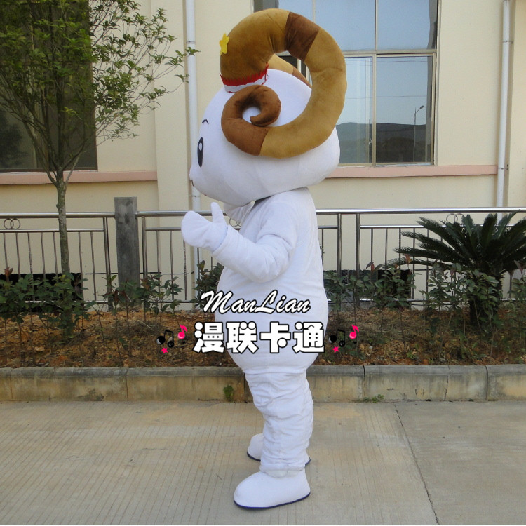 Le mouton mascotte Costume chèvre mascotte Costume déguisement Halloween Cosplay Costume - 3