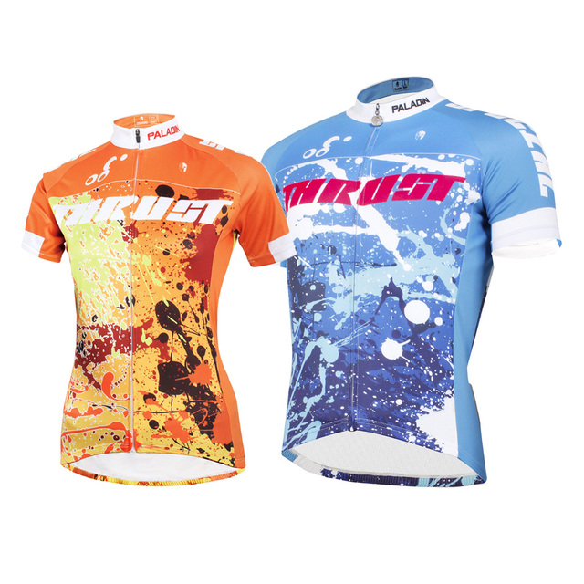 37130f45541 GZDL Men Women Couples Cycling Top Jersey Bike Letter Short Sleeve Shirt  Sport Roupa Ciclismo Maillot Bicycle Clothing MTB9344