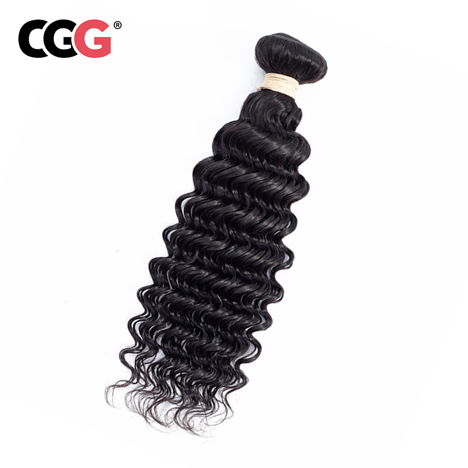 CGG Weaves Human-Hair-Bundles Sew-In 8-26inch Hair-Extensions No-Smell Deep-Wave Natural-Color