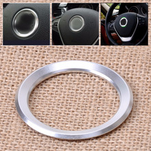 DWCX New Silver Car Steering Wheel Center Decoration Ring Cover For BMW 1 3 4 5 7 Series M3 M5 GT3 E81 E87 F30 34 F10 GT5 X1 X3