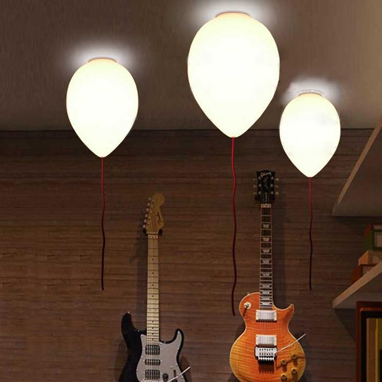 Moderno palloncino in vetro lampada da soffitto camera da letto per bambini decorare for Decorare camera bambini