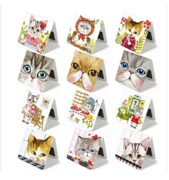 3 Pcs/pack Cute Cats Magnet Bookmark Paper Clip School Office Supply Escolar Papelaria Gift Stationery