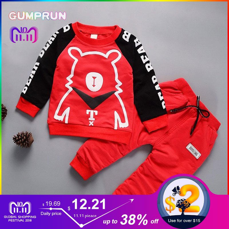 4d0dd850c Kids Winter Clothes Super Bear Printed boy's clothing set Warm Children  Clothing Girl Winter Clothes For Kids 1-4 years old