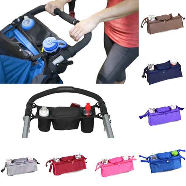 New Baby Stroller Organizer Diaper Bag Baby Milk Bottle Bags Baby Stuff Collection Stroller Accessories