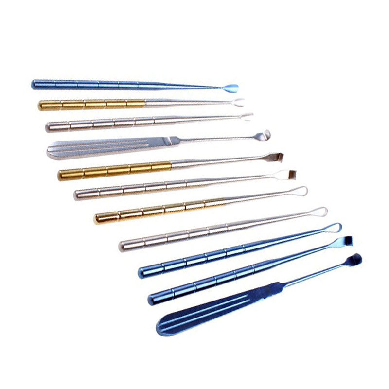 New Stainless Steel Surgical Instruments Body Odor Curette  Sputum  Hook  Solitary Squeegee Simmered Chicken Heart