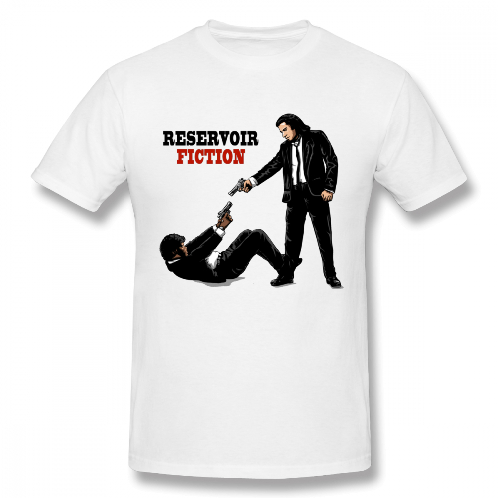 High-Q Unisex O-neck Reservoir Pulp Fiction Classic Movie T shirt Unisex New Design Camiseta