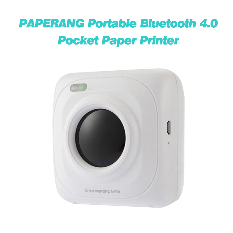 P1 Mini Photo Picture and Portable thermal printer bluetooth usb cable Printer For Android IOS Mobile Phone