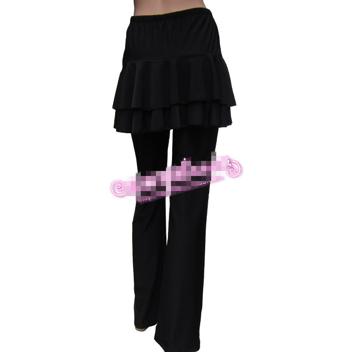 26983c39d82 M 3XL Plus Size Women Yoga Pants Latin Dance Divided Skirt New Latin Dance  Culotte Square Dance Belly Dance Clothing-in Yoga Pants from Sports ...