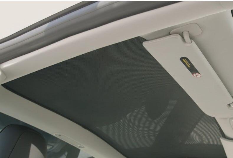 1pcs voor Tesla Model S Dak Zonnescherm Auto Dakraam Achter Dakraam Blind Shading Netto - 3