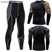 Cabeça de leão dos homens de alta qualidade roupa de MMA crossfit terno  sportswear roupas de 765173c9e5a60