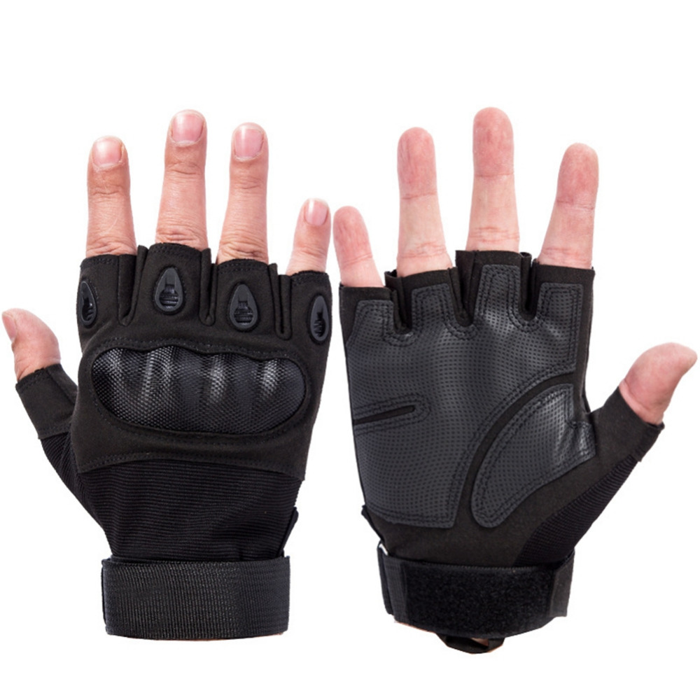 Tactical Gloves Military For Mens Army Bicycle Combat Paintball Airsoft Motorcross Fingerless Carbon Knuckle Half Finger Gloves
