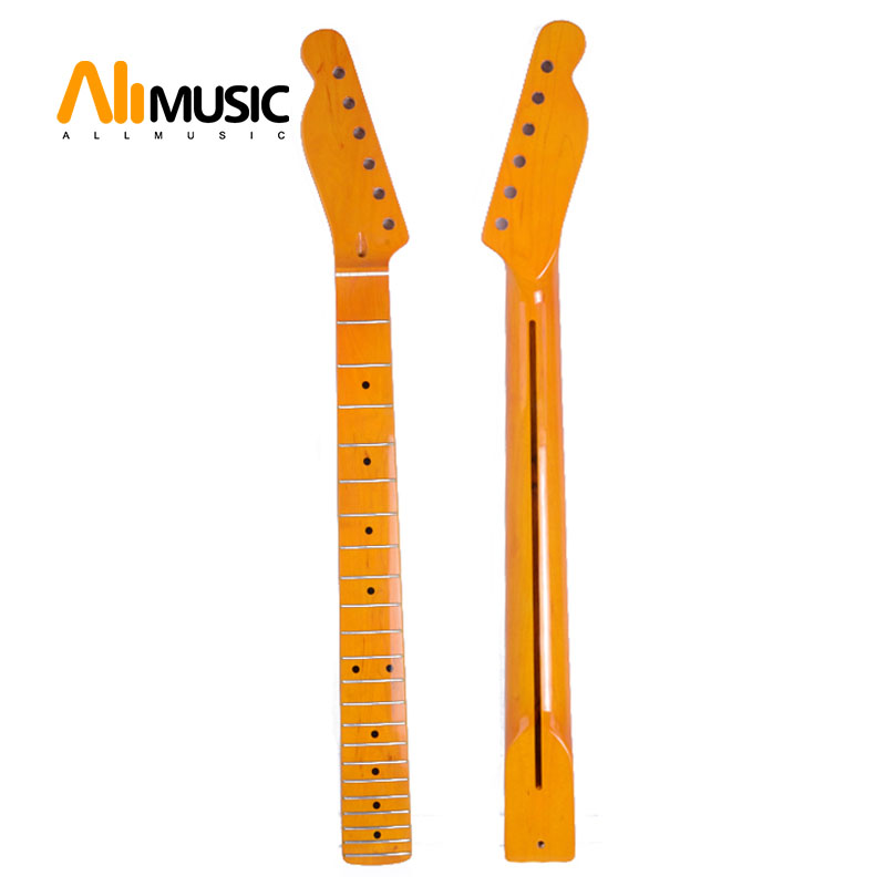 Maple Guitar Neck Left Handed Rosewood Fretboard For Electric Guitar Neck Parts Black Dot Yellow 22