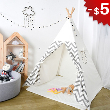 Baby Tent Toys for Children Play Room House Kids Wigwam Foldable Indoor Outdoor Tipi Birthday Gift 4 Poles Photography