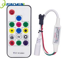 OSIDEN DC5-24V 2048Pixels 316 Kinds of Changes Digital RGB LED Strip Controller 14Key RF Wireless Remote for WS2812B WS2811 led(China)
