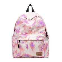 KANDRA Korean Style Fashion Floral Pattern Laptop Backpack Large Capacity Shoulder Bag Women Watercolor School 2019