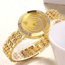 Ladies Moon Watches Diamond Fashion Female Luxury Gold Quartz Women Famous Rhinestone Relojes Mujer Montre Femme