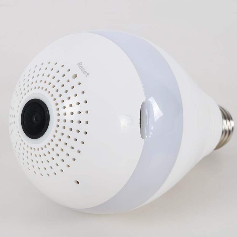 Купить с кэшбэком E27 LED Bulbs 3W 220V FishEye Surveillance Camera Light Bulb 360-degree Panoramic Monitoring Home Security Wireless 2.0MP 3.0MP