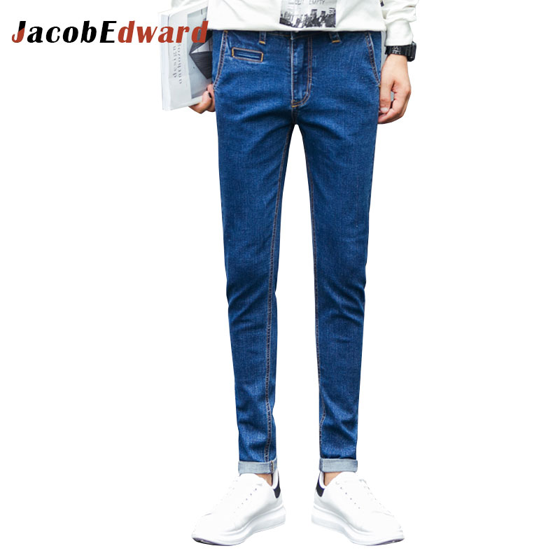 2017 Men's Jeans Full Length Straight Mens Brand Clothing Fashion Casual Plus Size Ripped