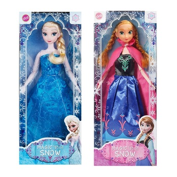 Disney Frozen Cartoon Dolls Snow Queen Anna Elsa Princess Character Action Model Toys Children Girls Birthday Gift Toys