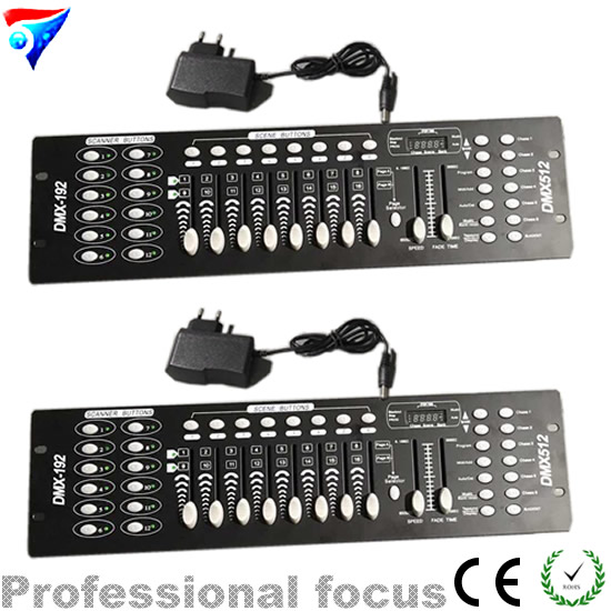 2pcs/lot DMX 192 controller,192 console stage lighting DJ equipment For led par, spotlights купить