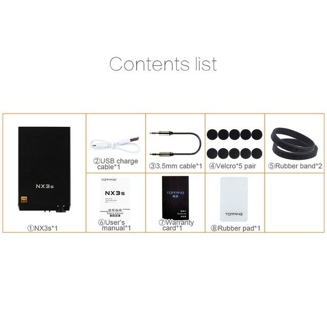 TOPPING NX3s Portable Amp HiFi Headphone Amplifier 6