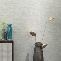 Non Woven Linen Imitation Straw Pattern Wallpaper For Bedroom Living Room TV Wall Papers Home Decor