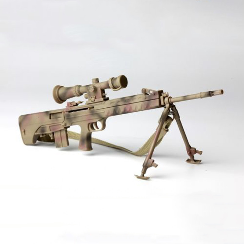 New 1/6 Scale Camouflage Sniper Rifle Pistol Gun Model Toys For 12 Action Figure Accessory for audi a4 2004 number plate light white led bulb c5w 39mm 3 led canbus error free