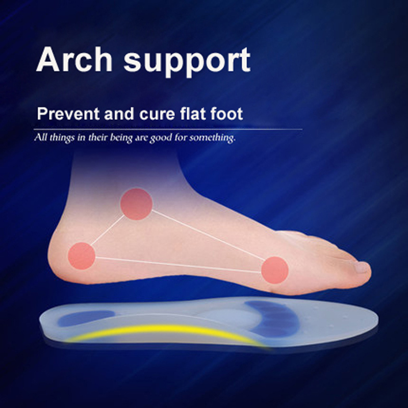 Arch Support Silicone Foot Pads Feet massaging Silicon Medical Grade Silicone Pad Spurs Achilles Tendon Fasciitis Hiking Insoles
