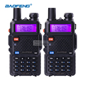 2 peça baofeng uv-5r dual band rádio walkie talkie transceptor dual display walkie talkie uv5r rádio comunicador portátil conjunto