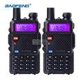 2 unidades baofeng uv-5r de banda dual transceptor de radio de doble pantalla de walkie talkie comunicador de radio uv5r walkie talkie portátil conjunto