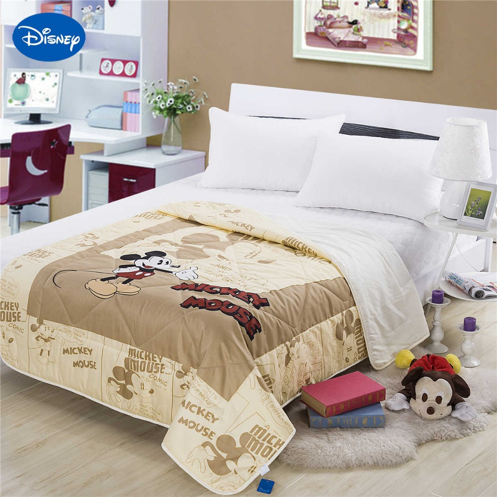 sweet mickey mouse summer quilts comforter baby children 39 s cotton bedding single twin queen size. Black Bedroom Furniture Sets. Home Design Ideas