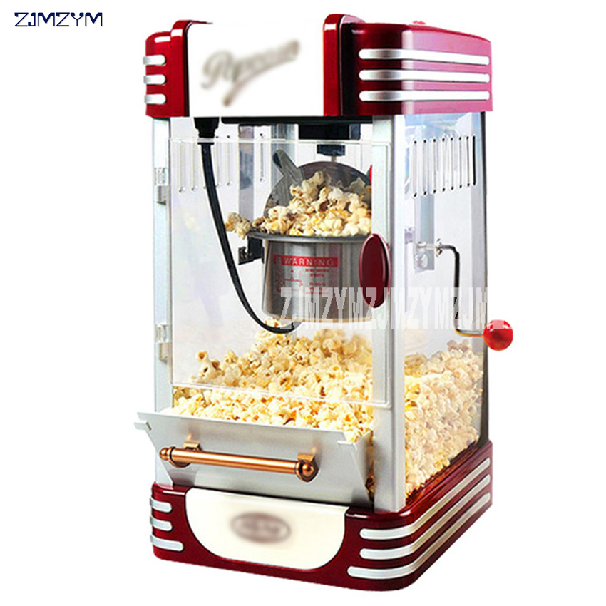 все цены на New Popcorn Machine Commercial Fully Automatic Mini Small Children's Popcorn Ball Home Package Machine 220V онлайн