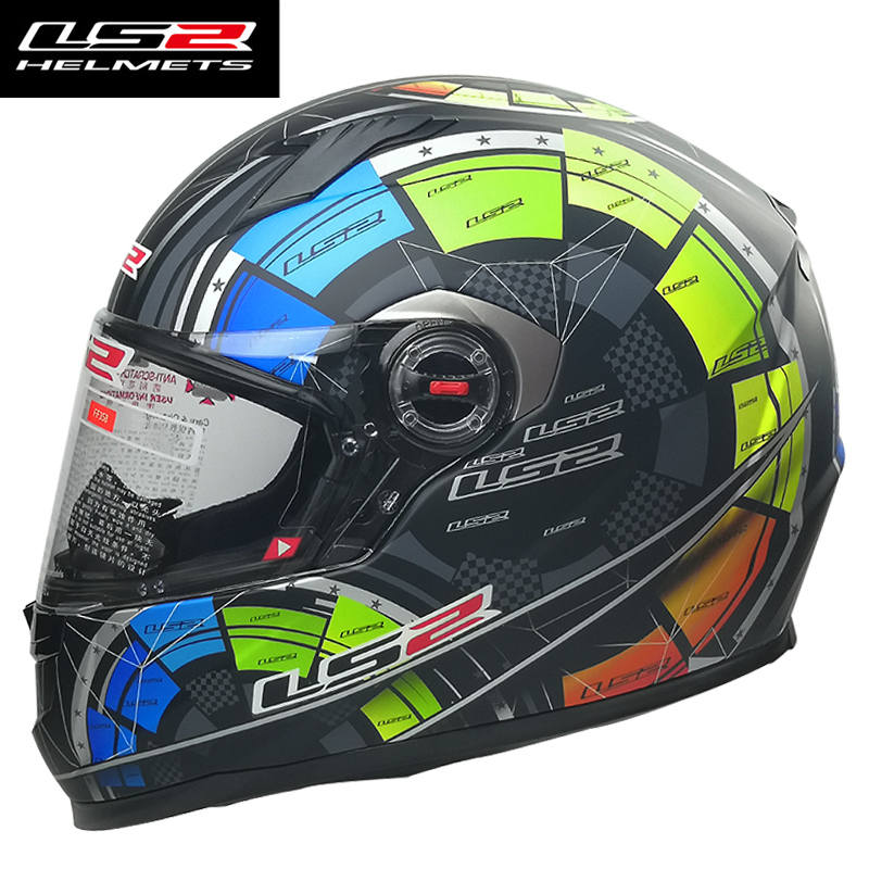 LS2 FF358 full face motorcycle helmet abs materil shell high quality moto helmet removable and washable inner pad LS2 helmets free shipping genuine sports car limited edition motorcycle helmet full helmet ls2 motorcycle oem red and white illusion