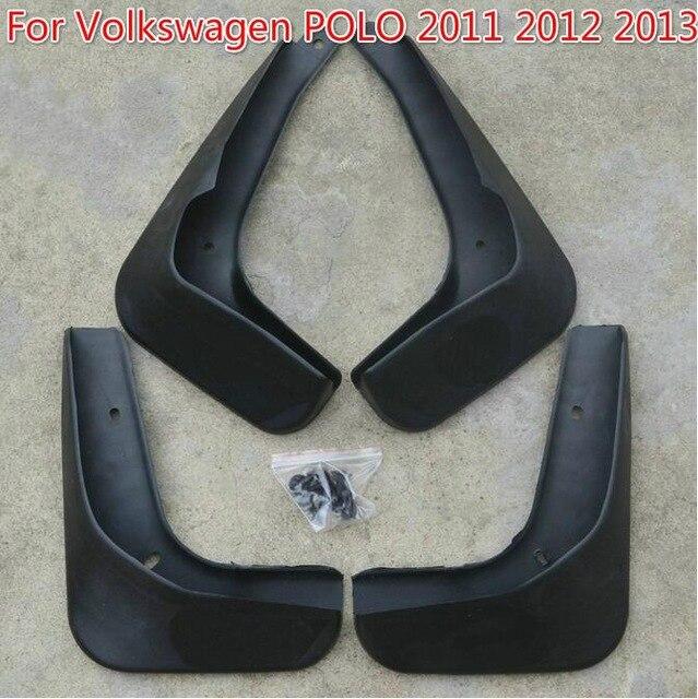 Новые черные стильные Брызговики брызговики крылья 4 шт. для Volkswagen POLO 2011 2012 2013 - Цвет: Черный