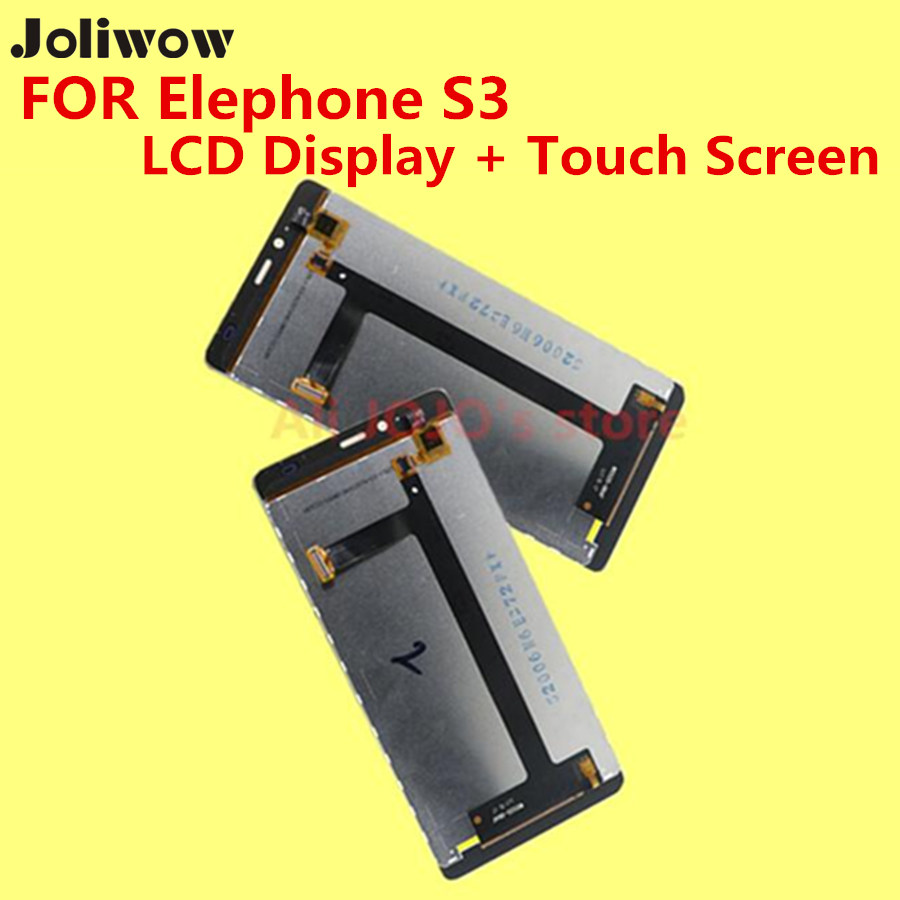 FOR Elephone S3 LCD Display+Touch Screen+Frame+Tools 100% Original Digitizer Assembly Replacement Accessories For Phone