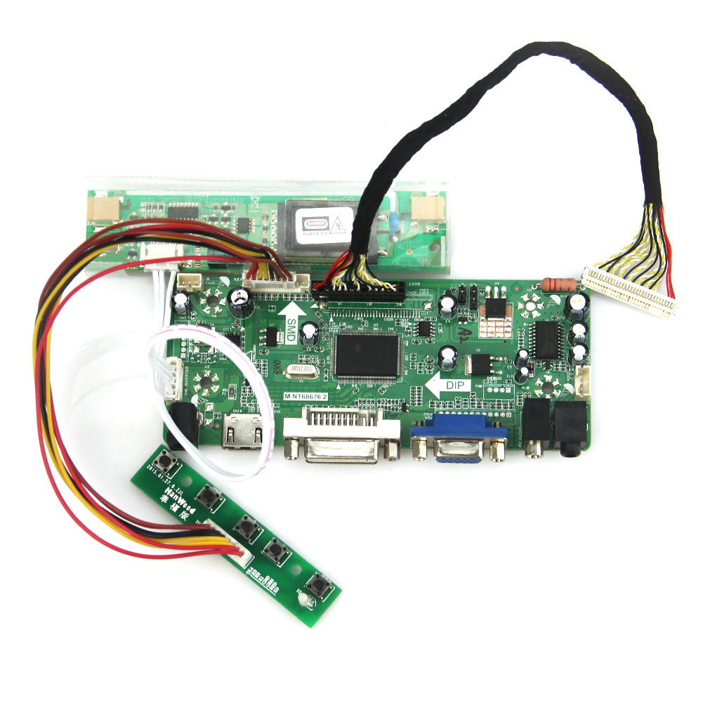 M.NT68676 LCD/LED Controller Driver Board(HDMI+VGA+DVI+Audio) For LQ164M1LA4A  1920x1080 LVDS Monitor Reuse Laptop